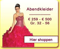 Abendkleider von 259 Euro bis 500 Euro