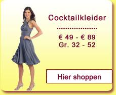 Cocktailkleider € 49,- bis € 89,-