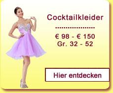 Cocktailkleider € 98,- bis € 150,-