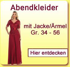 Abendkleider mit Jacke oder Ärmel