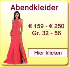 Abendkleider € 159,- bis € 250,-