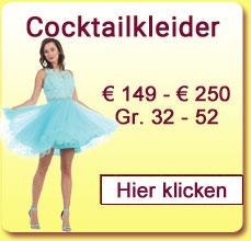 Cocktailkleider von 159 Euro bis 250 Euro