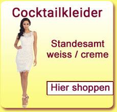 Cocktailkleider Standesamt weiss / creme