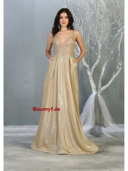 Ballkleid Abendkleid Glitzerkleid Goldkleid