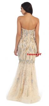 WOW Abendkleid Glitzerkleid Meermaidkleid Abiballkleid