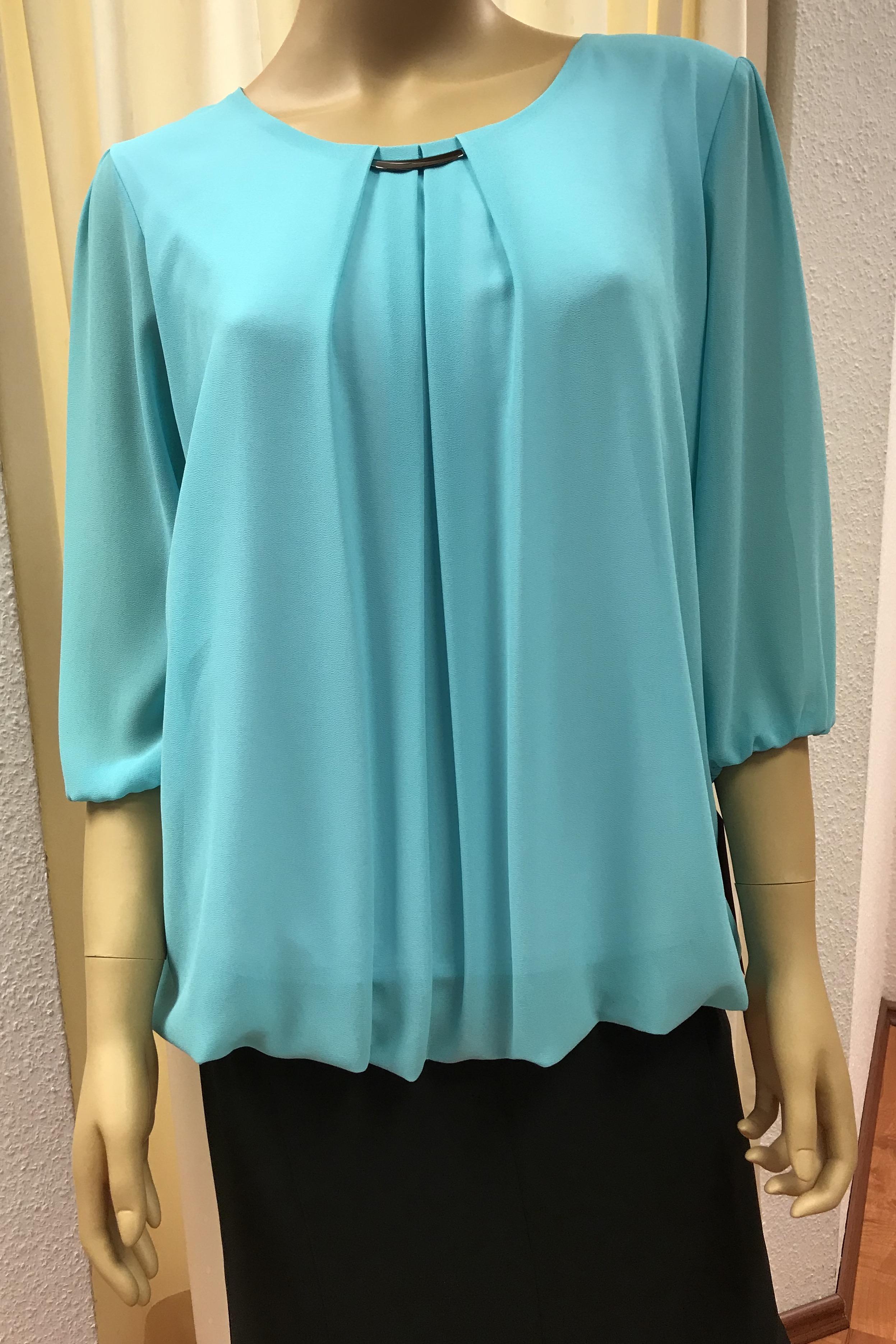 festliche bluse mit 3/4 arm auch in grossen grössen bis gr 48