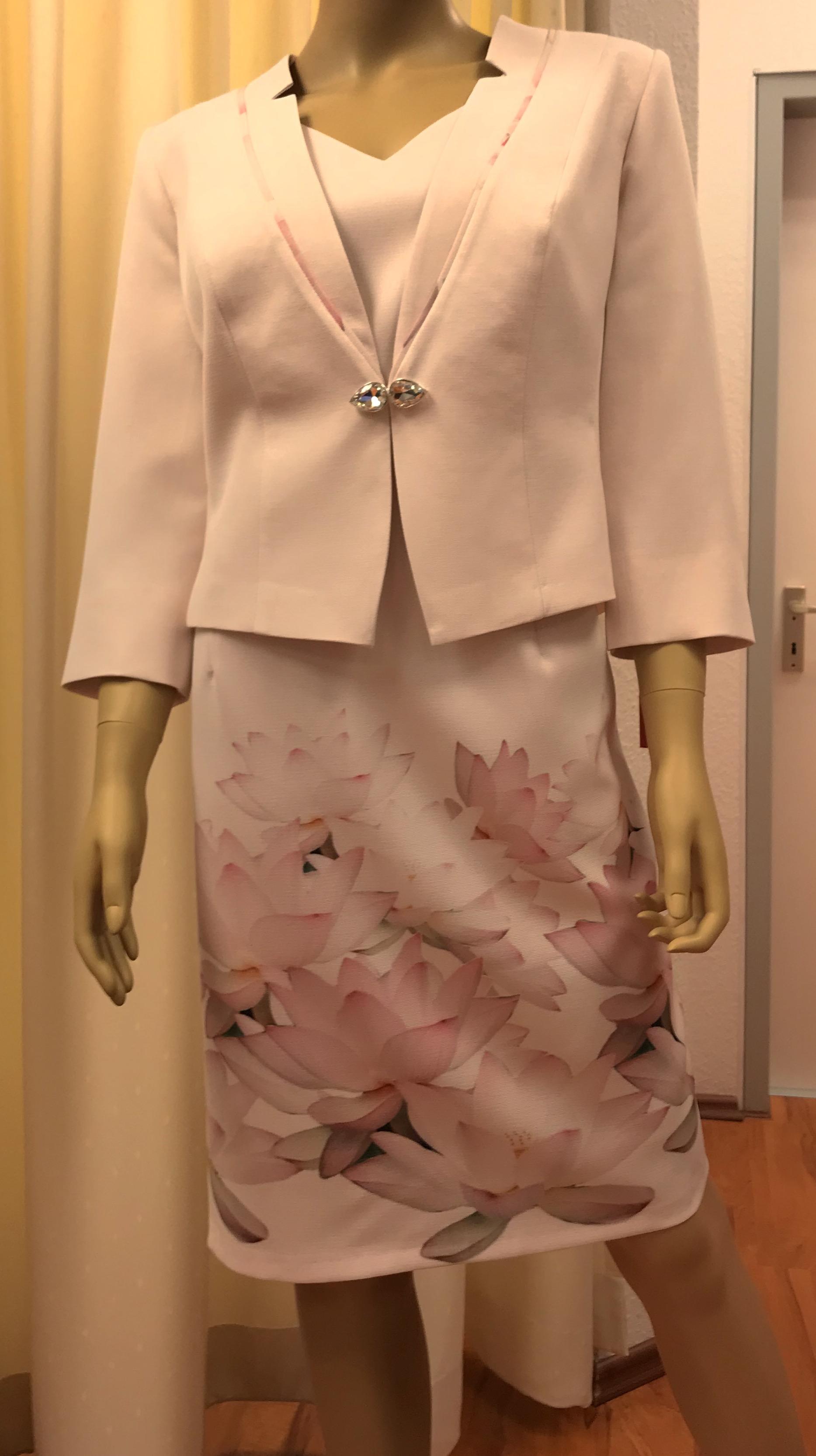elegantes jackenkleid 2tlg brautmutter auch grosse grössen etuikleid
