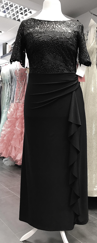 Abendkleider ABendkleid Brautmutterkleid Spitze Ärmelkleid Stretch  Übergrössen schwarz