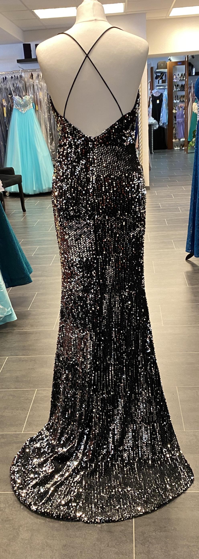 abendkleid meermaidkleid paillettenkleid rückenfrei mit kurzschleppe