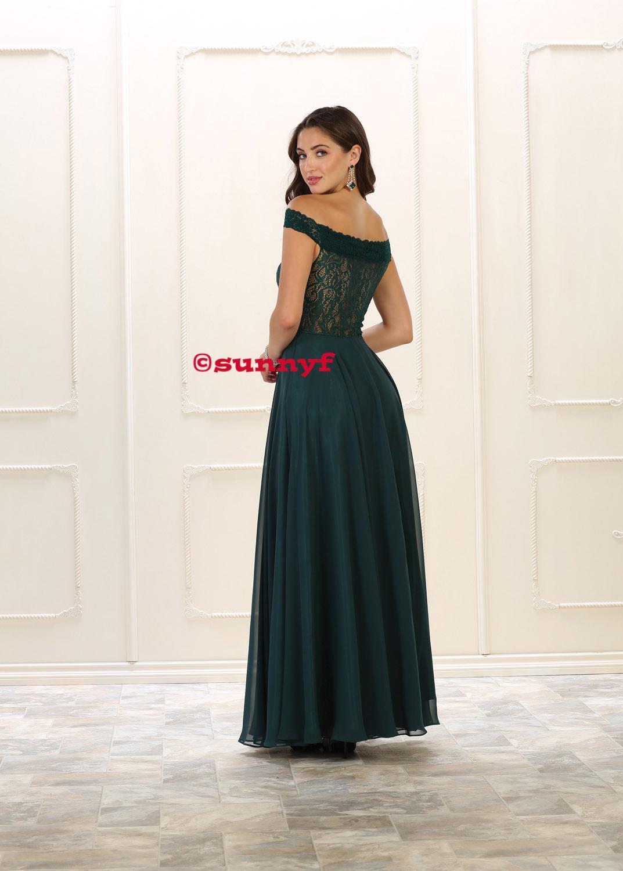 Abendkleid Carmenkleid Carmenausschnitt Abiballkleid Abtanzballkleid  Brautjungfernkleid grosse Grössen