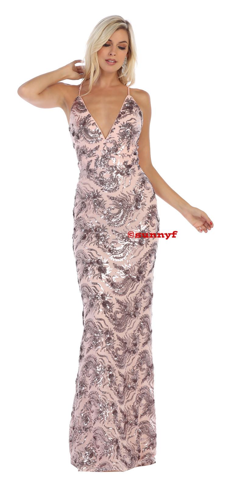 paillettenkleid stretch rückenfrei rosa ballkleid abendkleid