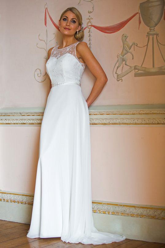 Brautkleid Vintage Spitze und Chiffon - Brautmode und Abendmode von ...